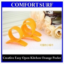 BUY 1 FREE 1 Creative & Easy Open Orange Fruits Skin Peeler