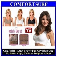 FREE GIFT + Classic/Colorful 3pcs Ahh Bra wf Soft Full Coverage Cup