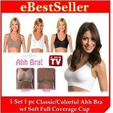 FREE GIFT+ 1pc Soft Full Coverage Cup Genie Ahh Bra 6 Colors 5 Sizes