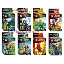 Latest 2014 LEGO Compatible Super Heroes Mini figures Set (8 IN 1)