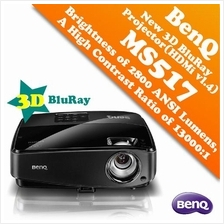 BenQ MS517 3D BluRay Projector via HDMI & SVGA (800x600)