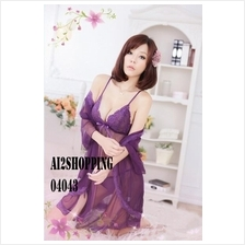 04043Beautiful sexy three-piece purple stunner pajamas Value