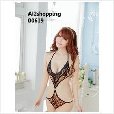 00619Exquisite lace straps sexy sleepwear sexy wild leopard