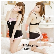 00412The new spell color halter straps sexy Lingerie Pajamas+G-string