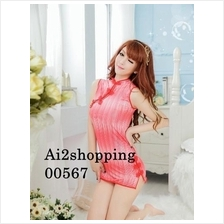 00567Gorgeous qipao highlight the figure fight beautiful nightdress