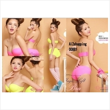 00881Fluorescent color gown/bridal fashion underwear sets(two straps)