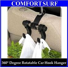 Multipurpose Car Hanger wf Double Hooks Hold Grocery Bags & More