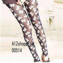 Korean sweet up the bow was thin nine sub / Leggings 00514