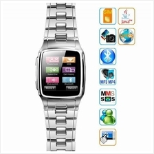 TW810 SILVER WATERPROOF Touch Screen Watch Phone S.STEEL