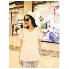 White Stylish Maternity T-shirt