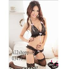 Three - pointsexy three-piece bow 03470