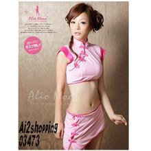 Three-piece qipao sexy pajamas 03473