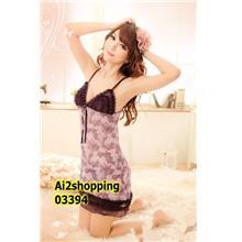 Splash-ink color sexy suspenders Lingerie+G-string03394