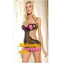 one-piece bow silk apron and sexy Lingerie+G-string01610