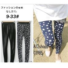 Crystal velvet pattern of Korean stars nine Leggings03985