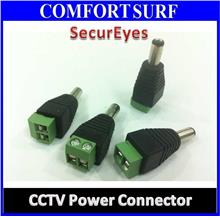 CCTV POWER Connector Plug MALE FEMALE / Easy Connect to Cable