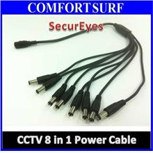 8 in 1 CCTV POWER CABLE, 12V DC 1 Split 8 Power Cable