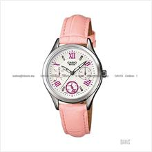 CASIO LTP-E301L-4AV STANDARD analog multi-hand leather strap pink