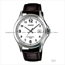 CASIO MTP-1380L-7BV STANDARD Analog classic date leather strap white