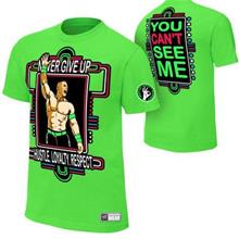 WWE WWF T Shirt Baju (Cena light green) WRESTLING GUSTI