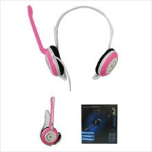 AVF BH-983 Earphone Headset With Mic For Laptop PC ~Powerful