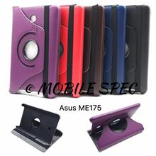 Asus FonePad 7 ME175CG 360 Degree Rotating Leather Cover Pouch Case