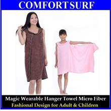 Nice Magic Wearable Micro Fiber Hanger Bath Towel 4 Adults & Children