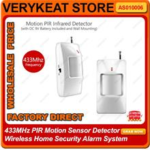 433MHz PIR Motion Sensor Detector Wireless Home Security Alarm System