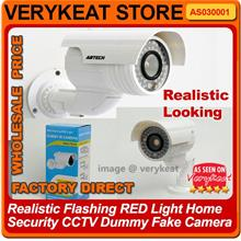Realistic Flashing RED Light Home Security CCTV Dummy Fake Camera