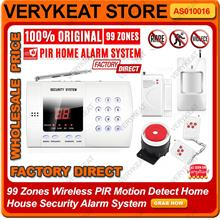 99 Zones Wireless PIR Motion Detect Home Remote Alarm System