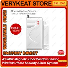 433MHz Magnetic Door Window Sensor Wireless Home Security Alarm System