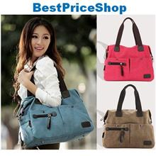 Stylish Leisure Korean Women Canvas Handbag Girls Shoulder Bag