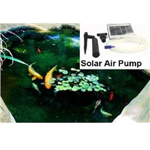 Solar Air Pump, Oxygenator, With Airstone, For Pond