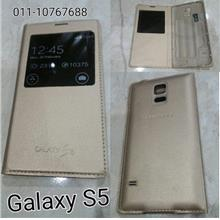 Samsung Galaxy S5 Gold S view with IC chip flip battery cover