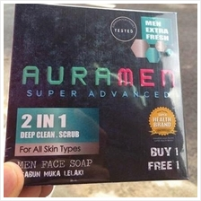 Aura Men Super Advanced Face Soap 2 in 1 *Free Shipping
