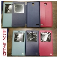 redmi note hongmi note leather flip case cover