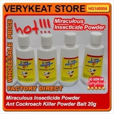 Miraculous Insecticide Powder Ant Cockroach Insect Killer Bait 20g