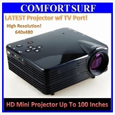 LAPTOP TV Projector Dvd SD Audio Video AV USB HDMI 100inch TV LED LCD
