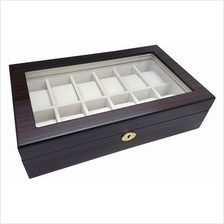 Wooden Watch Storage Box - 12 Slots