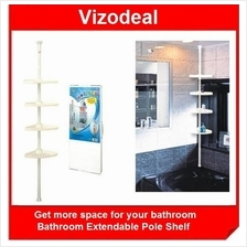 No Space in Your Bathroom? Get the Bathroom Extendable Pole Shelf Now
