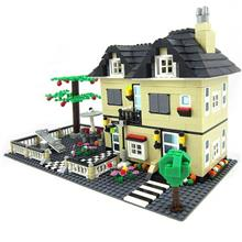 DIY Education Toy Creation Villa 34053 Building Block Toy Assembled