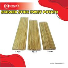 Skewer Stick Twist Potato 40cm long , 4mm diameter , 5 bags