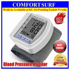 FREE Case + Digital Wrist Blood Pressure LCD Monitor Heart Beat Meter