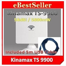 5m Cable+ Kinamax TS-9900 TS9900 Card High Power Wifi USB AP Adapter