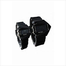 Stealth Plane Aircraft Shape Sports LED Digital Couple Watch Silicone