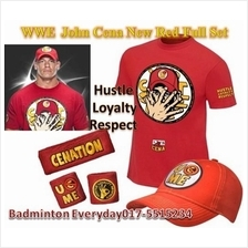 WWE WWF John Cena Full Set New Red Baju WRESTLING GUSTI