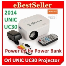Original UNIC UC30 / HX868 TV LED Projector 100' 600 LUMEN UC28+ HDMI