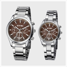 EYKI EET8581 Stainless Steel Couple Watch 1 Pair Brown