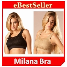 3pcs Black+White+Beige High Quality Genie Milana Bra Wf Removable Pads