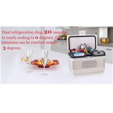 Free Shipping Fridge 12L Portable Car Refrigerator Cooler/ Warmer box